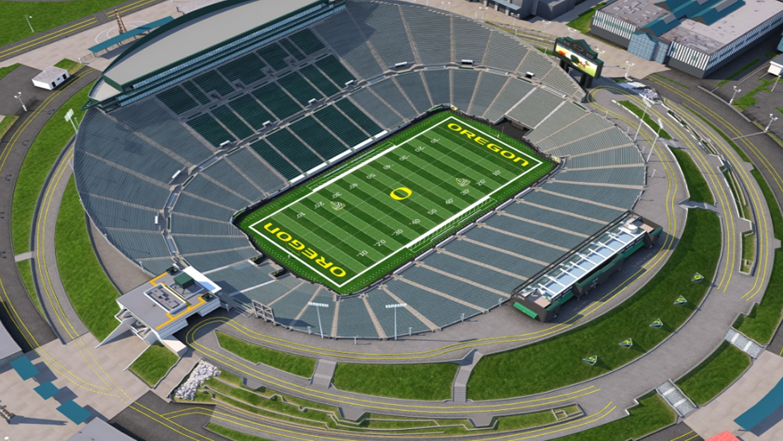 University Of Oregon Football Virtual Venue By Iomedia